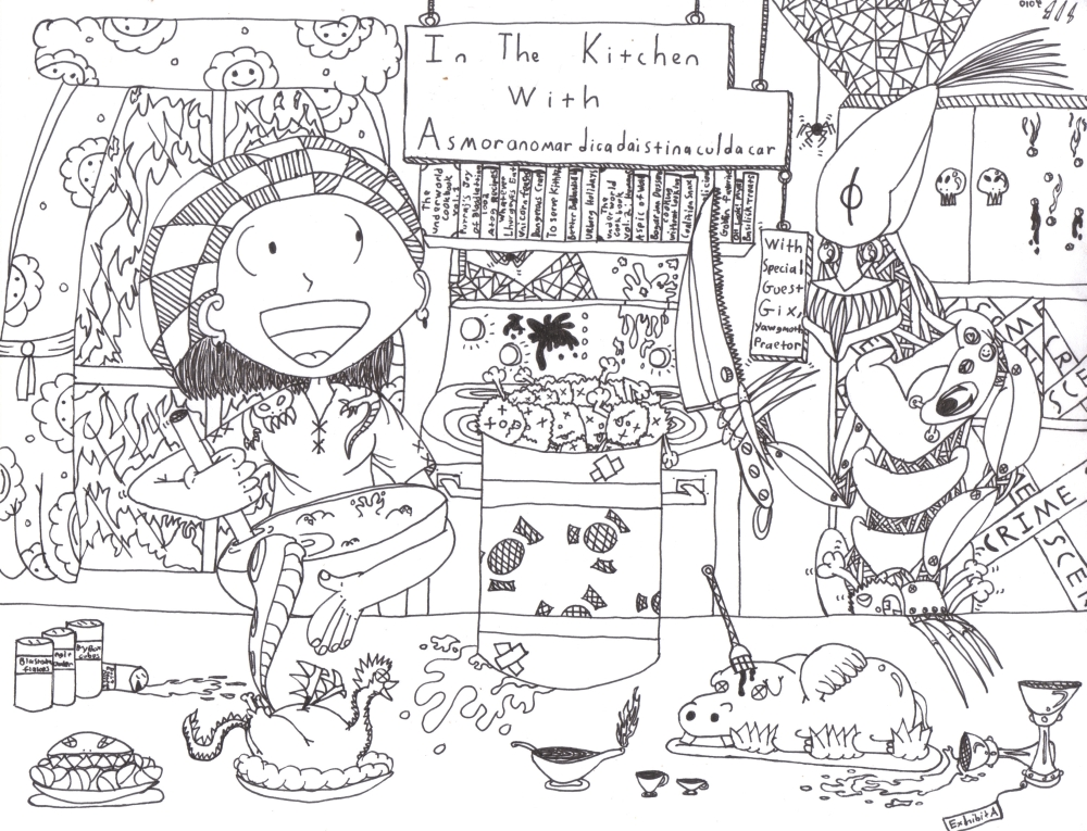 "In the Kitchen with Asmoranomardicadaistinaculdacar (""Asmor"" for short)"